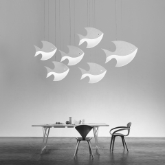 Modern Mini LED Pendant Light in Fish Shape for Kitchen Island Dining Table Restaurant