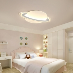 Modern Style Saturn LED Ceiling Lamp for Kid's Room Lighting