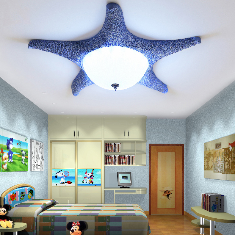 Led Starfish Childrens Room Lighting Child Ceiling Lamp Baby Ceiling Lamps And Boys And Girls Bedroom Lamps Latest Fashion Lights & Lighting