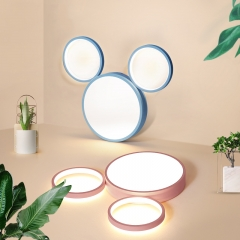 Modern Style Cool Kid Mickey LED Flush Mount Ceiling Lamp for Boys and Girls Room