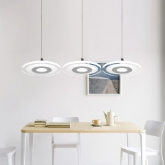 Modern LED Lighting Acrylic Round Pendant Lamp for Kitchen Island Dining Room and Restaurant