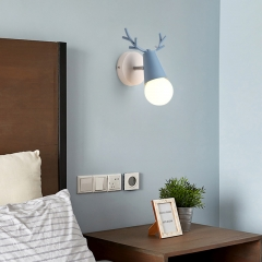 Modern Style 1 Light Deer Wall Sconce with Multiple Color Choices for Kid's Room Baby Nursery Room