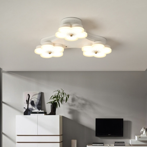 Modern Led Lighting Dimmable Fl Flush Mount Ceiling Light In White For Kitchen Hallway Bedroom Lighitng