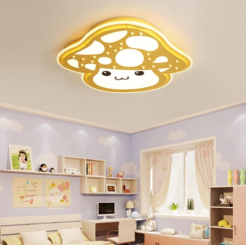 Modern Style Mushroom Led Flush Mount Ceiling Light For Baby Nursery Room Kid S Lighting