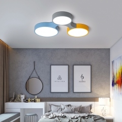 Modern Style LED Dimmable Molecule Flush Mount Ceiling Lamp for Kid's Room Teen's Room
