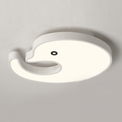 Modern Style Led Dimmable Dolphin Flush Mount Ceiling Light for Kid's Room Baby Nursery Room