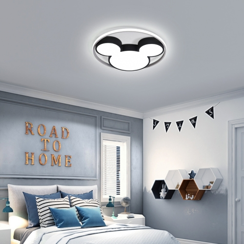 Modern Black Cool Kid Room Dimmable LED Mickey Ceiling Light for Baby Room Kid's Room
