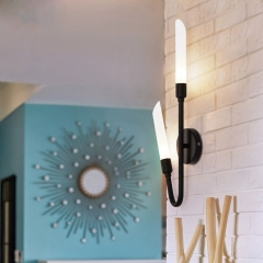 Modern Style 2 Light Wall Sconce with Frosted Glass Shade for Living Room Hallway