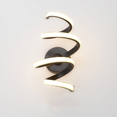 Modern LED Spiral Wall Sconce for Bedside Hallway Lighting