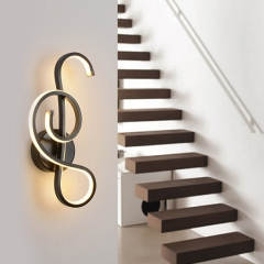 Modern Unique LED Wall Sconce for Bedroom Living Room Hallway Lighting