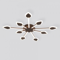 Modern Style LED 3/5/7 Light Sputnik Semi Flush Mount Ceiling Light for Bedroom Living Room