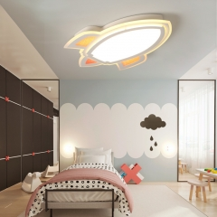 Cool Kid Rockets Modern LED Ceiling Light for Boy's Room Baby Nursery Room