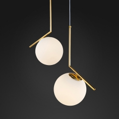 Modern Design 1 Light IC S Pendant Light with Opal Glass Shade