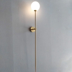 Contemporary Style Chic 1 Light Needle Wall Sconce with Opal Glass Shade for Living Room Hallway