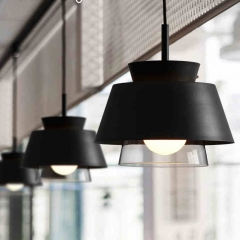 Modern 1 Mini Metal/Glass Haning Pendant Light in Black/White for Dining Room/Living Room/Restaurant