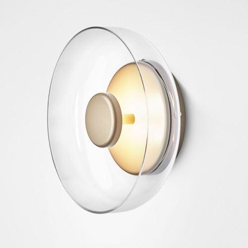 Nordic Lighting 1 Light LED Wall Sconce with Clear Glass for Living Room/Dining Room/Study Room