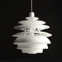 "Modern Style 15 3/4"" PH Snowball Pendant in White For Dining Table Kitchen Restaurant"