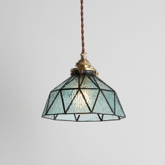 Vintage Style 1 Light Tiffany Glass Pendant For Dining Room Kitchen Island