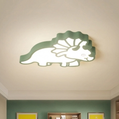 Modern Cool Kid Lighting Dinosaur Flush Mount Ceiling Lamp for Boys and Girls Nursery Room Playroom
