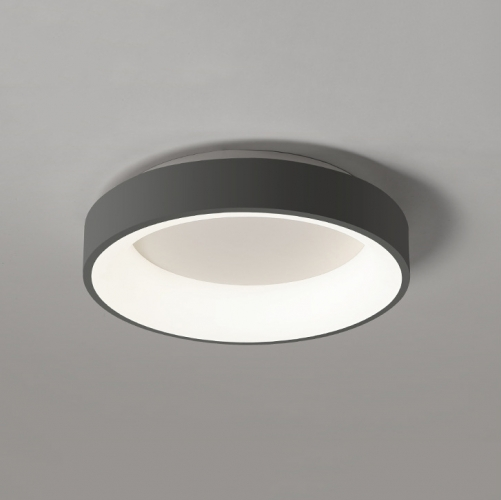 Minimalist LED Flush Mount Ceiling Light Hollowed Large Metal Ceiling Lamp  Dimmable for Living Room/Dining Room/Bedroom Room
