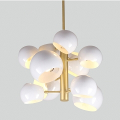 Danish Modern Designer 10-Light Modo Bubble Chandelier for Foyer Dining Room