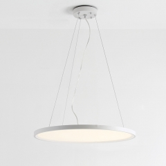 Modern Ultra-thin Disc 1-Light LED Pendant in Black/White for Dinging Room
