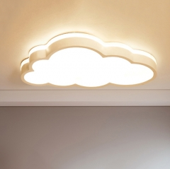 Minimalist LED Cloud Ceiling Flush Mount Dimmable Cool Kid's Room Lighting