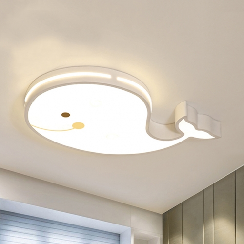 Cartoon Whale Dimmable Led Flush Mount Ceiling Light For Nursery Baby S Boys Room Lighting Gift