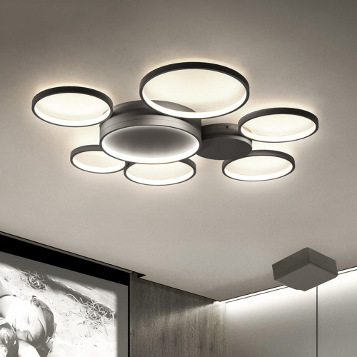 Modern Rings LED Ceiling Lamp Energy Saving Ceiling Lamp for Bedroom