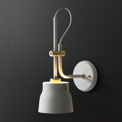 Minimalist Design 1-Light Wall Lamp Mechanical Lamp Height Adjustable