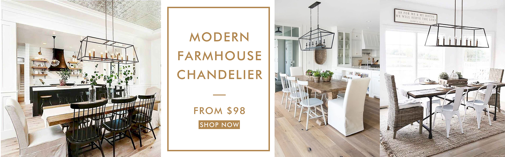Modern Farmhouse Chandelier from $98