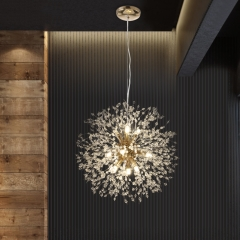Contemporary 9/8 -Light Firework Crystal Modern Chandelier Lighting