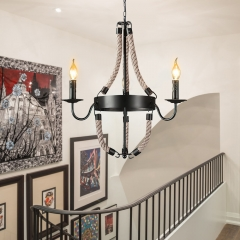 Mid Century Modern 3/6- Lights Candle Style Empire Chandelier For Living Room/Dining Room/ Stairwell