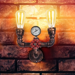 Modern Industrial Style Two-Lights Pipe Wall Lamp For Shop/Restaurant/Living Room