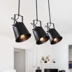 Modern Industrial 3 Lights Track Lighting Pendants for Kitchen Island/Dining Table