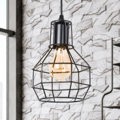 Modern Industrial Single Light Geometric Pendant Light for Dining Room Kitchen Island
