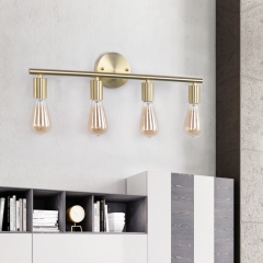 Modern Contemporary 4 Lights Brass Wall Sconce for Bedroom Living Room