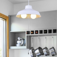 Modern Industrial Three-Lights Dome Pendant Light for Kitchen Island Dining Table