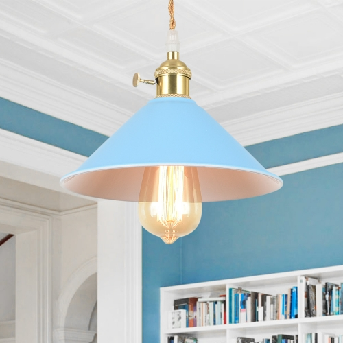 Modern Industrial Cone Single Pendant Light for Kitchen/Dining Room/Living Room