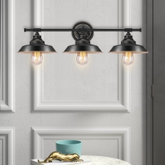 Modern Industrial 3-lights Dimmable Armed Sconce for Bedroom Living Room