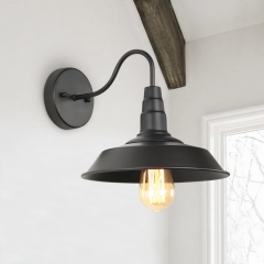 Modern unique industrial 1 light wall sconce for Living Room/ Entryway