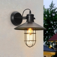 Farmhouse Rustic Style Outdoor 1 Light Wall Lights for Front Door/ Entryway/Living Room